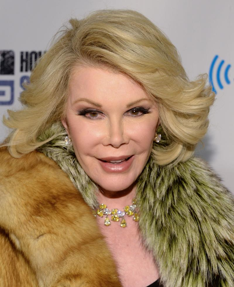 "Joan Rivers attends ""Howard Stern's Birthday Bash,"" presented by SiriusXM at the Hammerstein Ballroom on Friday, Jan. 31, 2014 in New York. (Evan Agostini/Invision/AP)"