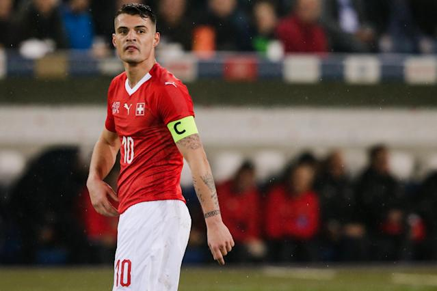<p>Granit Xhaka is part of a Switzerland squad worth a reported €246m. </p>