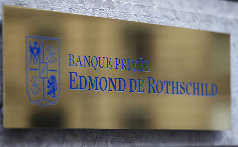 FILE PHOTO: A logo of Banque Privee Edmond de Rothschild is seen on the bank building before a news conference for the group's 2010 results, in Geneva