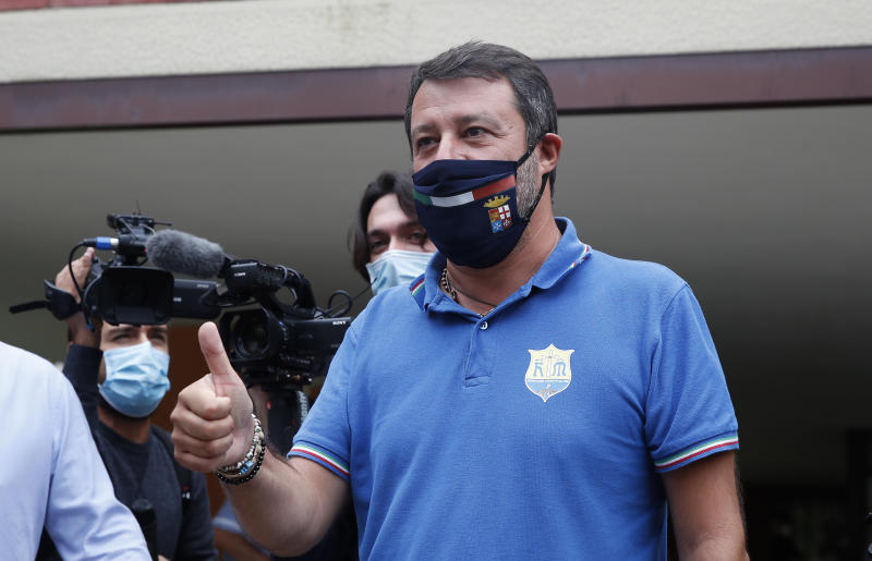 Matteo Salvini (AP Photo/Antonio Calanni)