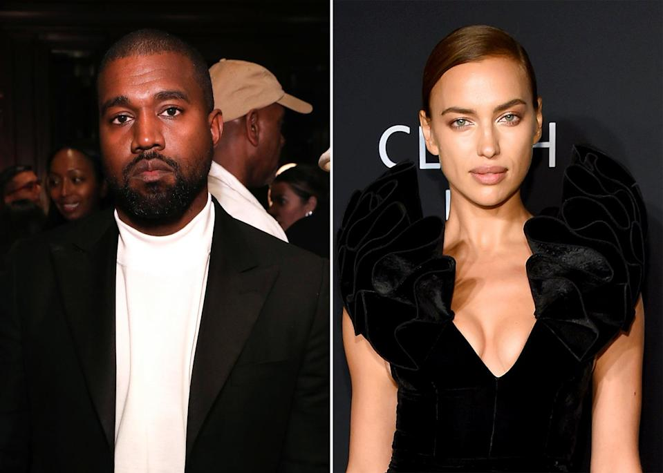 """<p>Kanye and Irina were first spotted together while <a href=""""https://www.popsugar.com/celebrity/are-kanye-west-irina-shayk-dating-48365319"""" class=""""link rapid-noclick-resp"""" rel=""""nofollow noopener"""" target=""""_blank"""" data-ylk=""""slk:vacationing in France"""">vacationing in France</a> in June. <a href=""""https://www.popsugar.com/celebrity/kanye-west-and-irina-shayk-relationship-timeline-48367801"""" class=""""link rapid-noclick-resp"""" rel=""""nofollow noopener"""" target=""""_blank"""" data-ylk=""""slk:Rumors of a romance between the two"""">Rumors of a romance between the two</a> had been brewing for quite some time, with <strong>People</strong> reporting on June 10 that <a href=""""https://people.com/music/kanye-west-pictured-with-irina-shayk-france/"""" class=""""link rapid-noclick-resp"""" rel=""""nofollow noopener"""" target=""""_blank"""" data-ylk=""""slk:Kanye began &quot;pursuing&quot; Irina"""">Kanye began """"pursuing"""" Irina</a> several weeks prior. A source told <strong>E! News</strong> on June 9 that """"<a href=""""https://www.eonline.com/news/1278288/how-kanye-west-and-irina-shayk-hit-it-off-inside-their-casual-romance"""" class=""""link rapid-noclick-resp"""" rel=""""nofollow noopener"""" target=""""_blank"""" data-ylk=""""slk:Kanye and Irina connected recently"""">Kanye and Irina connected recently</a> when they were both in New York City. They met up one night and had chemistry and hit it off.""""</p>"""