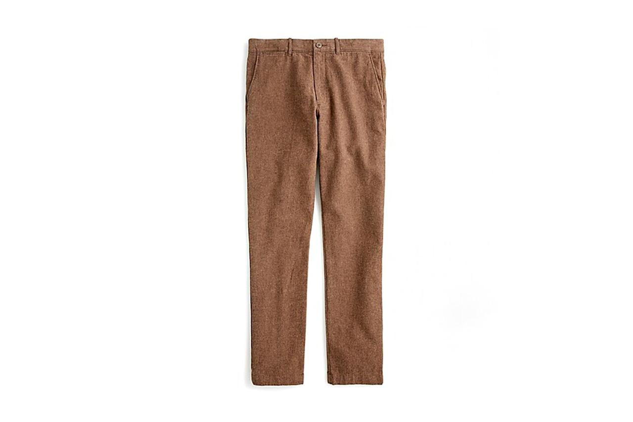 "$90, J.Crew. <a href=""https://www.jcrew.com/p/shops/30_off_winter_picks/pants1/770-straightfit-pant-in-stretch-brushed-twill/AE580?color_name=chocolate-black-donegal"">Get it now!</a>"