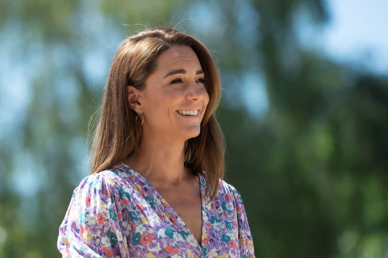 Britain's Catherine, Duchess of Cambridge, visits the Nook Children's Hospice in Framingham Earl