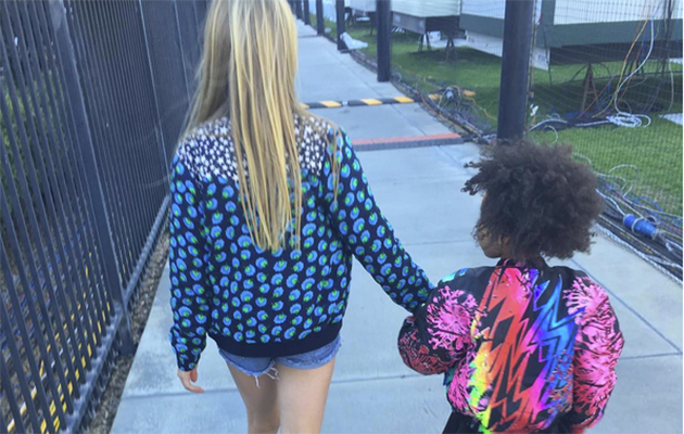 Gwyneth Paltrow Instagrammed this picture of Apple and Blue Ivy.