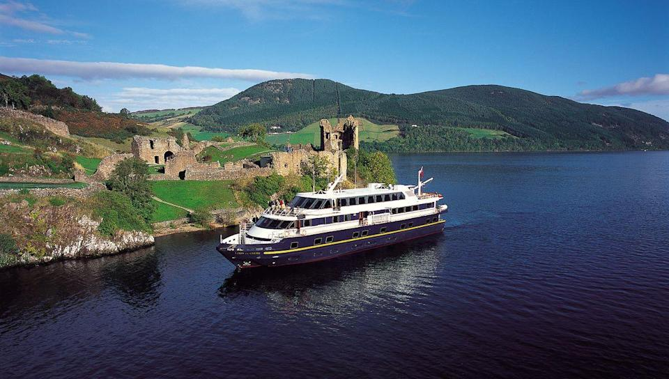 """<p>For romantic castles and wild islands, Scotland's a superb destination for a short cruise and this luxury yacht experience is an alternative way to see the likes of Loch Ness, Loch Nevis, the Sound of Mull, Iona, Eigg, Skye and Fort William.</p><p>Taking place over six days this autumn, the cruise costs from £1,260 per person and invites you to experience the elegance of boutique ship Lord of the Glens. As you get to know the sights of Scotland, you can relax on board, with freshly produced meals served up, a wonderful viewing deck and cosy cabins.</p><p><a class=""""link rapid-noclick-resp"""" href=""""https://www.goodhousekeepingholidays.com/tours/scottish-highlands-islands-luxury-yacht-autumn-cruise"""" rel=""""nofollow noopener"""" target=""""_blank"""" data-ylk=""""slk:BOOK NOW"""">BOOK NOW</a></p>"""