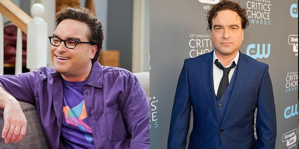 <p>In real life, Johnny Galecki doesn't wear thick-framed glasses à la Leonard, which somehow seems to make all the difference in the world. </p>