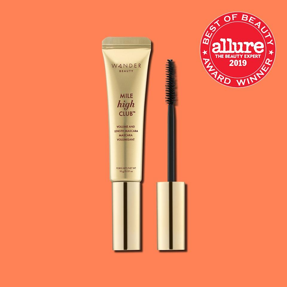 "The supple oils and natural extracts in <strong><a href=""https://www.wanderbeauty.com/mile-high-club-volume-and-length-mascara"" rel=""nofollow"">Wander Beauty Mile High Club Volume and Length Mascara</a></strong> glide to the very tips of lashes, creating a glossy fan that flutters in your side view."