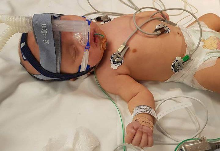 Mum-of-five Kirsten Browne said people need to be aware of how sensitive premature babies are and not come near them if suffering from the flu. Photo: Facbook