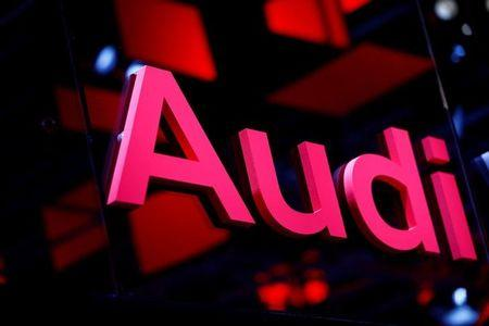 An Audi logo is pictured at the Frankfurt Motor Show (IAA) in Frankfurt