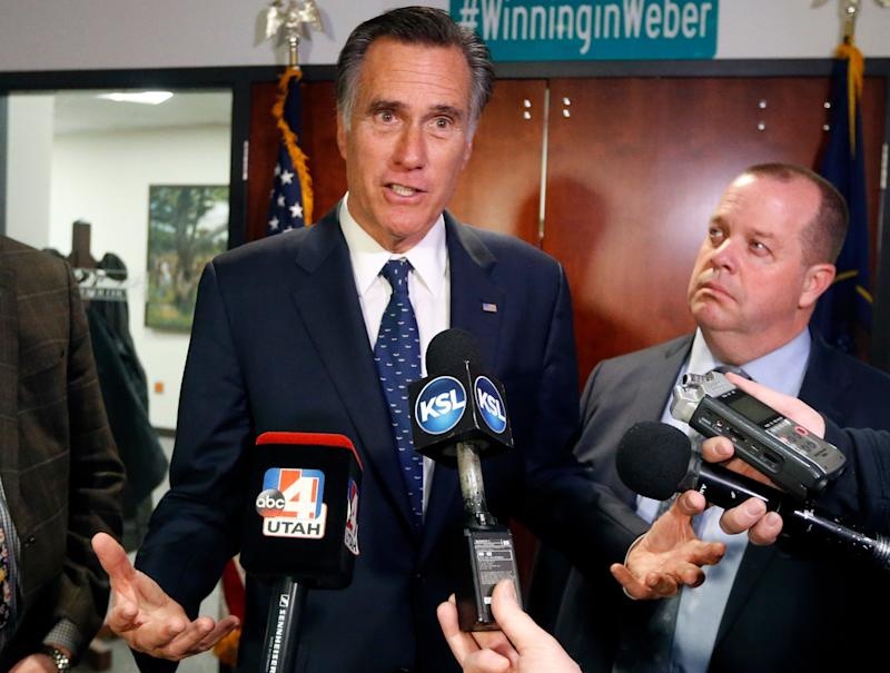 Utah Republican Sen. Mitt Romney speaks with reporters on Friday, Jan. 18, 2019, in Ogden, Utah. (Photo: Rick Bowmer/AP)