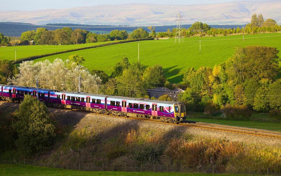A train makes its way through the scenic countryside near Strickland Mill, Cumbria. Hydrogen trains have been proposed to replace deisel engines in remote beauty spots