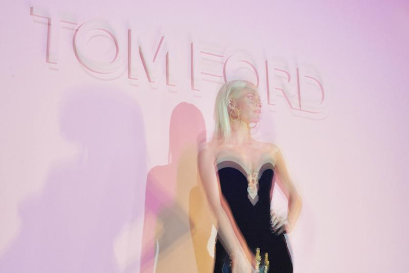 The scene at the Tom Ford Spring 2018 runway show as part of New York Fashion Week.