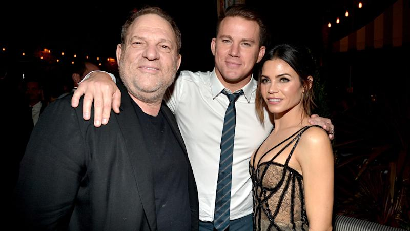 Channing Tatum, Jenna Dewan Tatum and Harvey Weinstein
