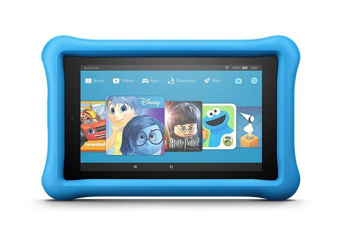 Amazon Fire 7 kids edition tablet in blue. (Photo: Amazon)