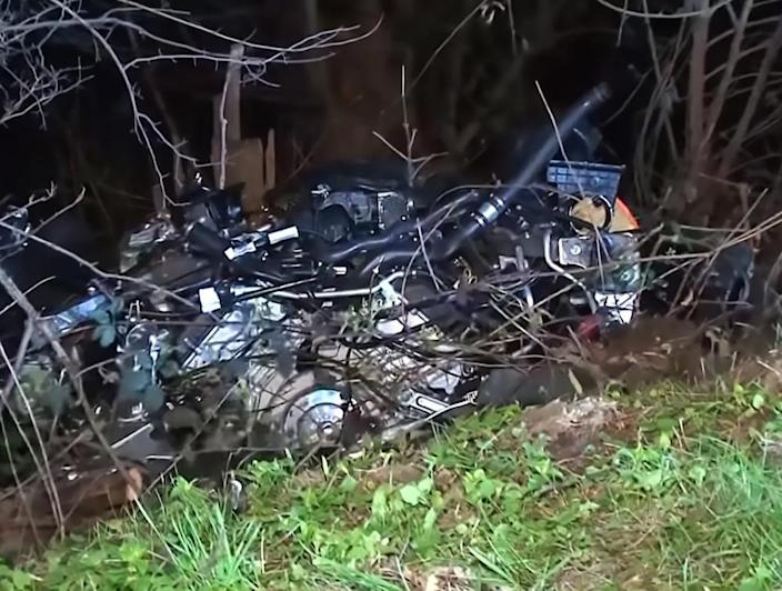 The car was reportedly travelling at 186mph (Picture: Central European News)
