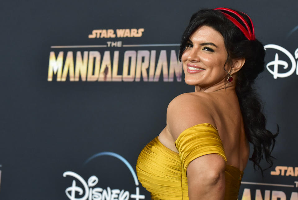 Gina Carano attends the premiere of Disney+'s