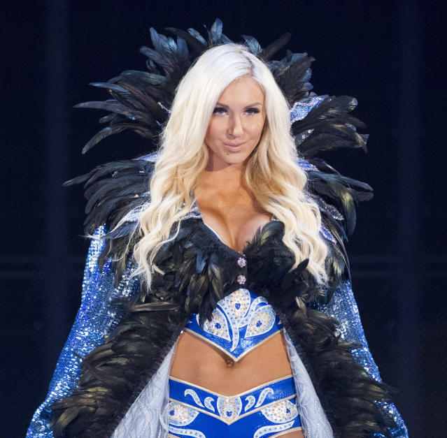 "Charlotte Flair will be looking to capture her eighth women's championship in WWE when she faces Becky Lynch at ""Evolution"" later this month. (Image courtesy of WWE)"
