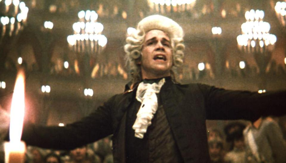 <p>Amadeus rocked Hollywood in 1985, winning Best Picture, Best Director, and Best Supporting Actor (F. Murray Abraham) — though lead Tom Hulce lost in the Best Actor category. (Photo: Everett) </p>