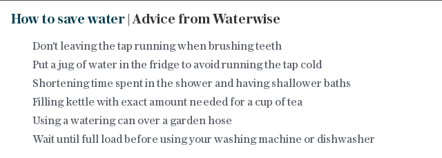 How to save water | Advice from Waterwise