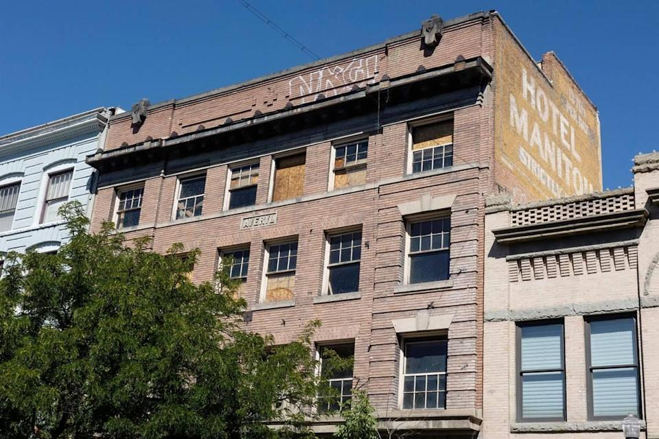 """""""Though the building's original name on the 1910 blueprints was the A.S. Tiner Building, at the time of construction it was changed to the Averyl in honor of Mr. Tiner's niece Averyl,"""" states a design review application."""