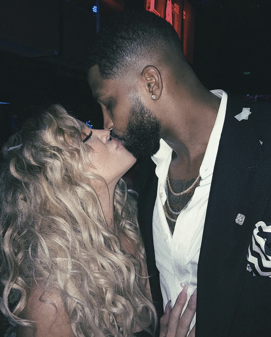 """<p>The reality star and basketball player have a very pushy friend to thank for their relationship (and adorable daughter, True).</p><p>""""I was put on a blind date with Tristan and that's how [we met],"""" Khloé <a href=""""http://people.com/tv/kim-kardashian-talks-near-miscarriage-keeping-up-10th-anniversary/"""" rel=""""nofollow noopener"""" target=""""_blank"""" data-ylk=""""slk:explained"""" class=""""link rapid-noclick-resp"""">explained</a> during the <em>Keeping Up With the Kardashians </em>10th anniversary special. """"Brandon Jennings, who is a basketball player and a friend of mine and <span class=""""redactor-unlink"""">Malika [Haqq]'</span>s, was like, 'You're such a good girl, I want to introduce you to someone.' I was at the Bel-Air hotel, and [Tristan] came to the dinner. I didn't want to go on a blind date, so Brandon kind of ambushed the blind date. We just connected.""""</p>"""
