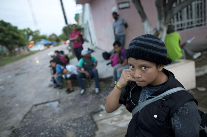 A 14-year-old Guatemalan girl traveling alone toward the U.S. border