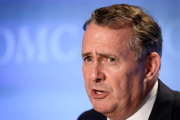 'Tricked': Liam Fox. (AFP via Getty Images)