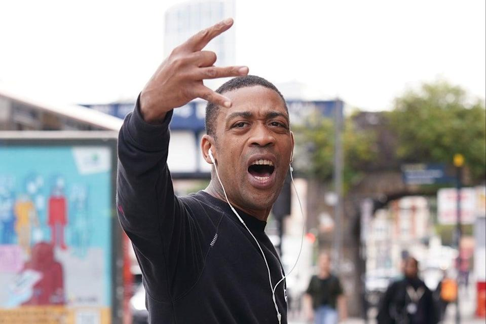 Rapper Wiley, real name Richard Kylea Cowie, arrives at a previous hearing  (PA Wire)