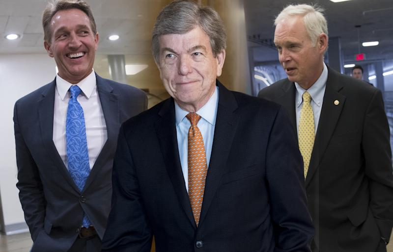 Sen. Jeff Flake, R-Ariz., Sen. Roy Blunt, R-Mo and Sen. Ron Johnson, R-Wis.