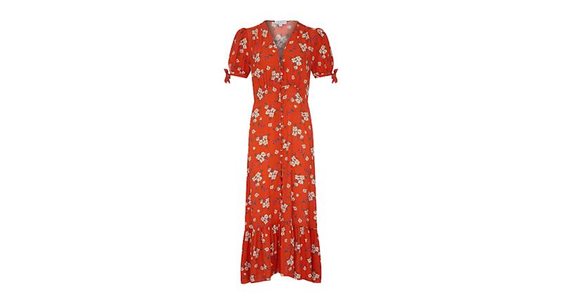 Ghost Maddy Floral Midi Dress