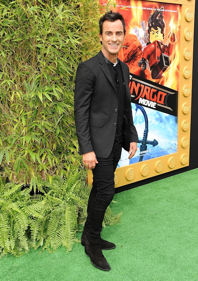 Theroux attends the premiere of <em>The LEGO Ninjago Movie</em>, September 2017, in Westwood, Calif. (Photo: Getty Images)