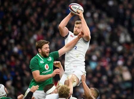 Rugby Union - Six Nations Championship - England vs Ireland - Twickenham Stadium, London, Britain - March 17, 2018 England's George Kruis in action with Ireland's Iain Henderson REUTERS/Toby Melville