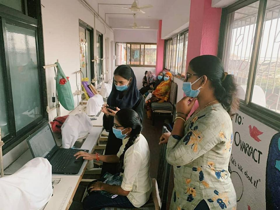 At Myna, girls are learning from each other and seeking ways for the support online