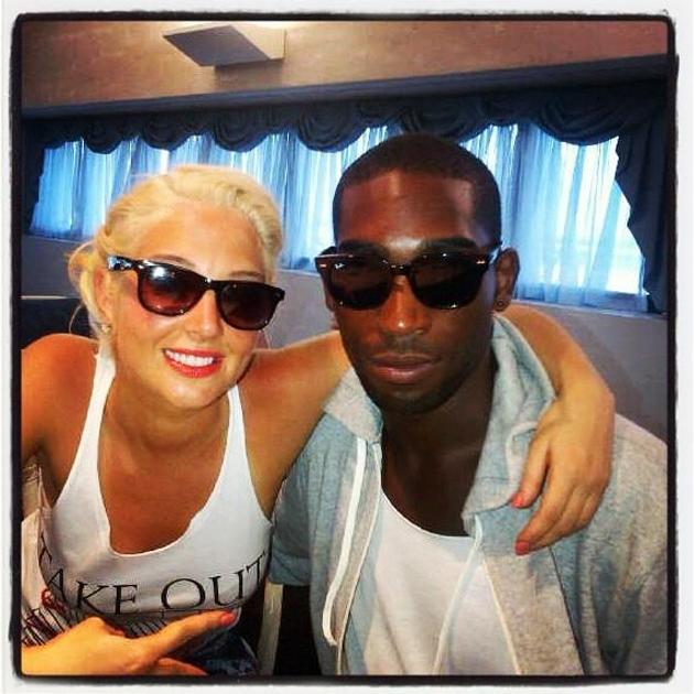 """Celebrity photos: Tulisa spent some time hanging out with her mate Tinie Tempah this week. She tweeted a photo of the pair on holiday, alongside the caption: """"St.Lucia Mofos with my boy @TinieTempah."""""""