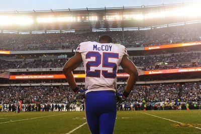 LeSean McCoy injury update: RB ruled out for Bills, fantasy owners