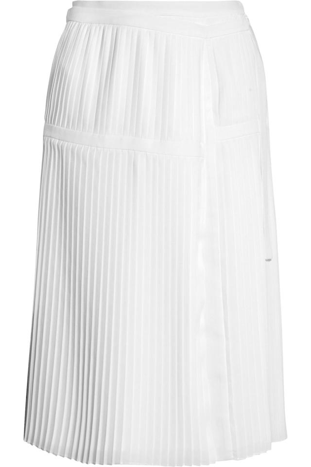 """<p>This is the perfect SPRING with exclamation points skirt. The white, pleated style is sweet, but it has a high leg slit that makes sure it's not <em>too </em>sweet. - <em>Sally Holmes, Digital Director</em></p><p><em>Altuzarra Skirt, $394</em> <a rel=""""nofollow"""" href=""""https://www.theoutnet.com/en-us/shop/product/midi_cod4772211931761855.html#dept=AM_Altuzarra_DESIGNERS"""">Shop IT</a></p>"""