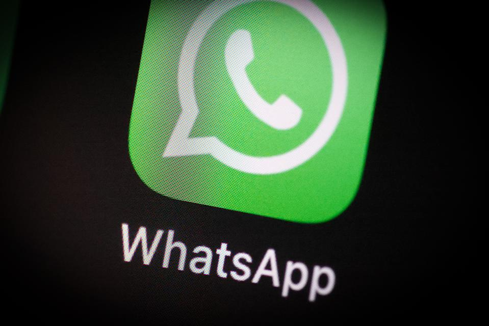 The WhatsApp application icon is seen on an iPhone home screen in Warsaw, Poland on March 3, 2021. (Photo by Jaap Arriens/NurPhoto via Getty Images)