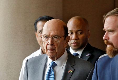 FILE PHOTO: U.S. Commerce Secretary Wilbur Ross arrives to attend the Trade Winds Indo-Pacific Trade Mission and Business Forum in New Delhi, India, May 7, 2019. REUTERS/Anushree Fadnavis/ File Photo