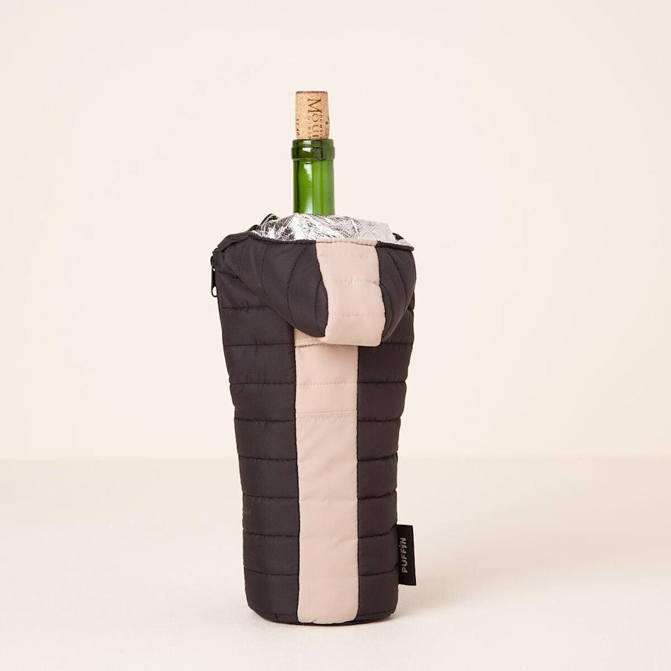 <p>This <span>Chill Out Wine Sleeping Bag</span> ($22) is a game-changer.</p>