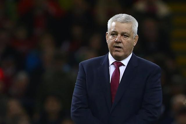 Wales' head coach Warren Gatland looks on before the international rugby union test match against Georgia at Principality stadium in Cardiff November 18, 2017 (AFP Photo/Geoff CADDICK)