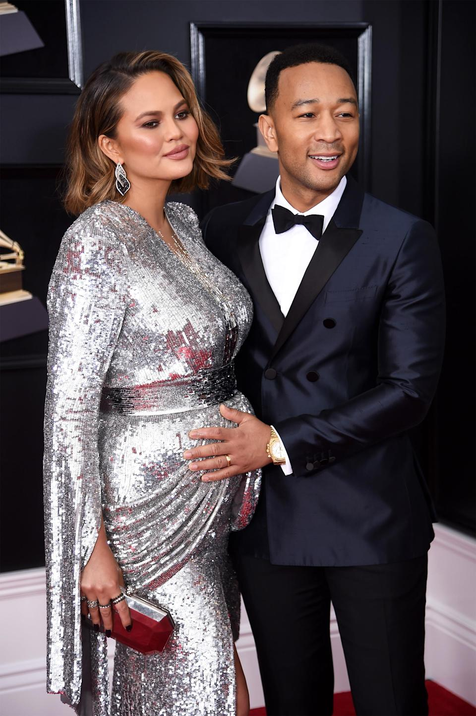 It's a boy for Chrissy Teigen and John Legend. (Photo: Dimitrios Kambouris/Getty Images for NARAS)