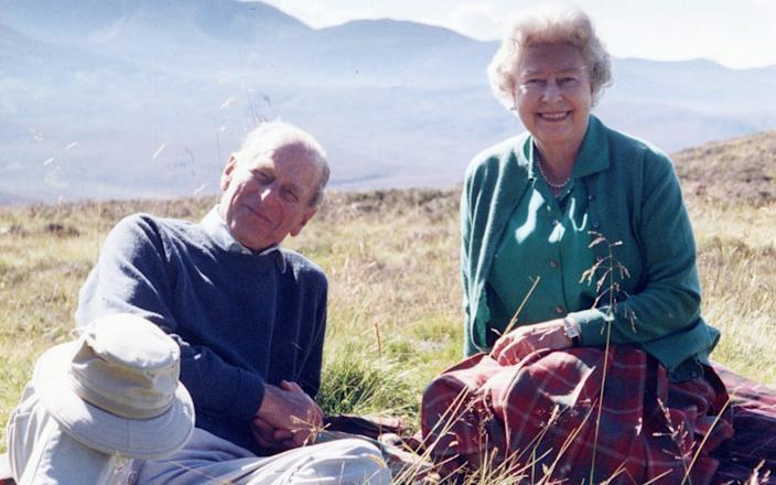 Prince Philip and the Queen in a 2003 picture taken at Balmoral picture and released by Buckingham Palace on Friday - The Countess of Wessex/PA