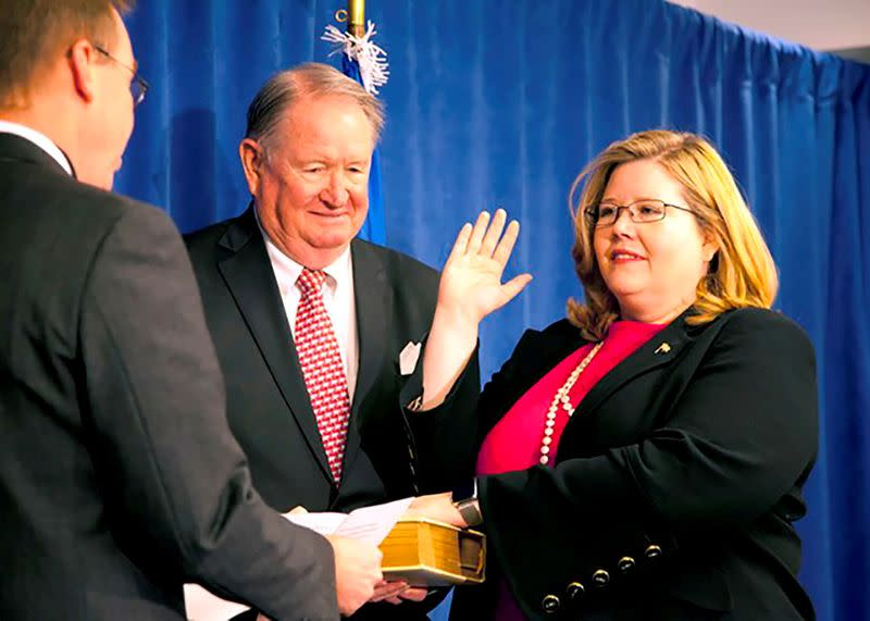FILE PHOTO: FILE PHOTO: U.S. General Services Administration Administrator Emily W. Murphy sworn in Washington