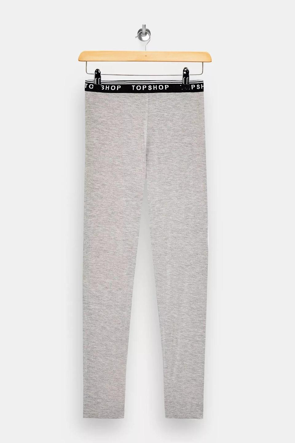 <p>These <span>Gray Marl Branded Elasticated Leggings</span> ($20) are the minimalist staples your closet needs.</p>