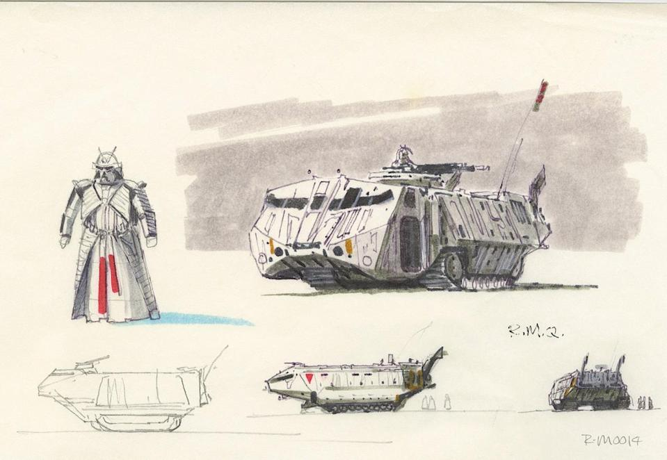 """<p>""""While the [Snowtrooper Commander] character never made the film, I would love to see the armor as well as the large tank-like Sno-Cats that Ralph designed,"""" Mandel adds. </p>"""