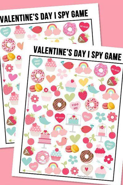 """<p>Live Laugh Rowe's printable """"I Spy"""" game asks kids to find the number of strawberries, donuts, rainbows, etc. on the page. Bonus: It comes with an answer sheet (for your eyes only). </p><p><em><a href=""""https://livelaughrowe.com/valentines-day-i-spy-printable/"""" rel=""""nofollow noopener"""" target=""""_blank"""" data-ylk=""""slk:Get the tutorial at Live Laugh Rowe »"""" class=""""link rapid-noclick-resp"""">Get the tutorial at Live Laugh Rowe »</a></em></p>"""