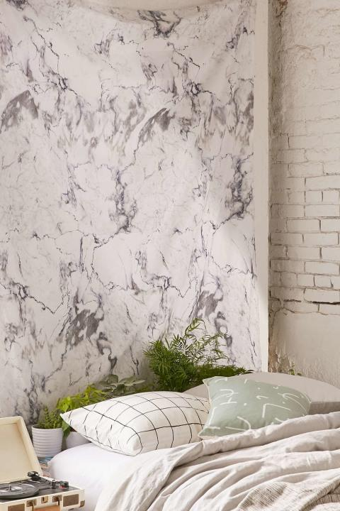 Marble walls not in the budget? Try marble wallpaper.