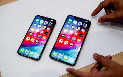 The iPhone XS and XS Max - Credit: AFP