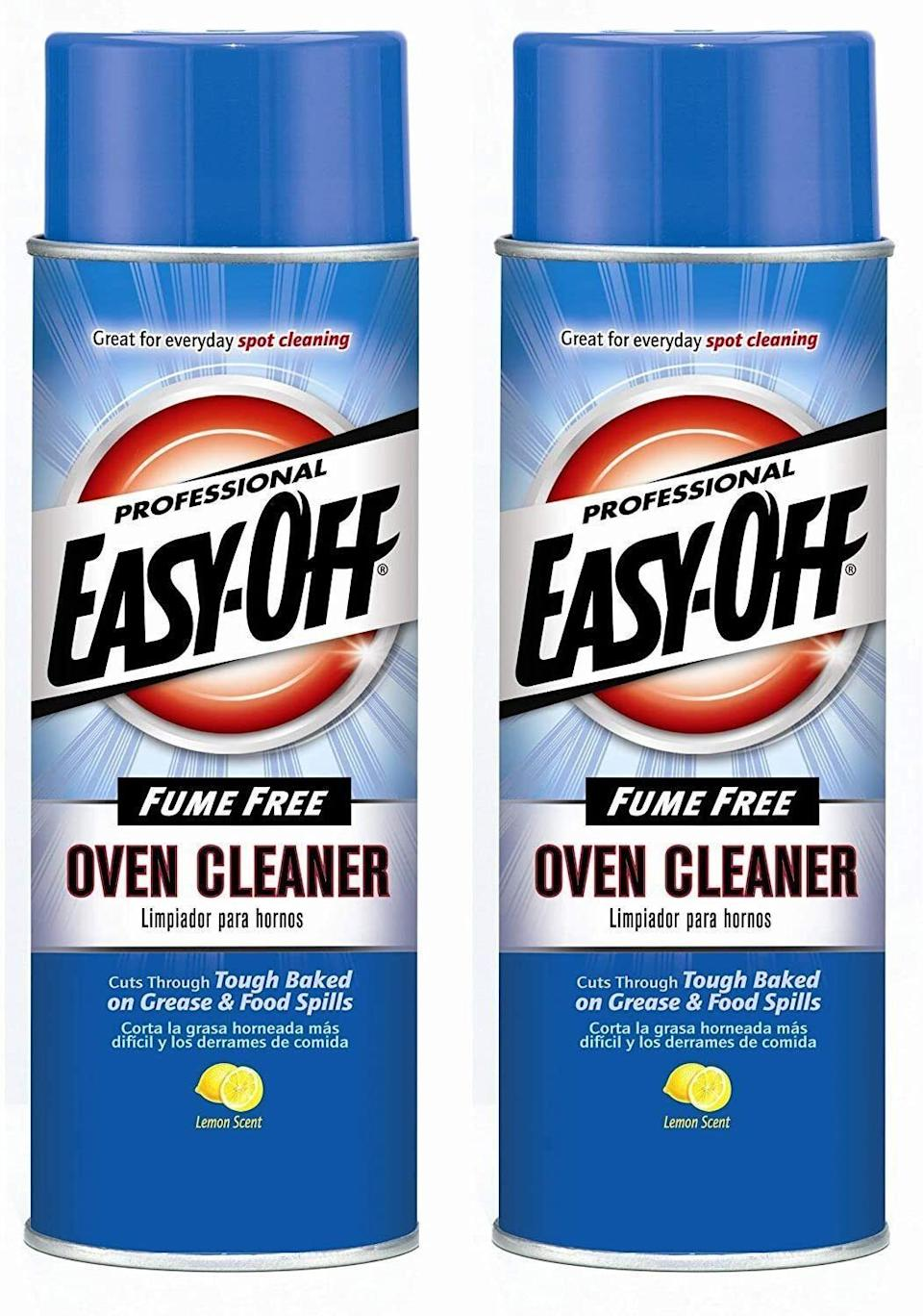 """If youstillhave some caked-on nastiness in your oven from Thanksgiving, it's time to add to cart.<br /><strong><br />Promising review:</strong>""""Oh man, this stuff is awesome! I sprayed and left it on overnight. I had no idea what to expect. I took a paper towel and started wiping out the oven. The grime just melted away. It was awesome!"""" —<a href=""""https://amzn.to/3fYhNGk"""" target=""""_blank"""" rel=""""nofollow noopener noreferrer"""" data-skimlinks-tracking=""""5892474"""" data-vars-affiliate=""""Amazon"""" data-vars-asin=""""B00UZNYHR4"""" data-vars-href=""""https://www.amazon.com/gp/customer-reviews/R2ZMLFUU69T41L?tag=bfdaniel-20&ascsubtag=5892474%2C1%2C33%2Cmobile_web%2C0%2C0%2C16507716"""" data-vars-keywords=""""cleaning"""" data-vars-link-id=""""16507716"""" data-vars-price="""""""" data-vars-product-id=""""16631235"""" data-vars-product-img=""""https://m.media-amazon.com/images/I/31YkiM6OAJL.jpg"""" data-vars-product-title=""""Illume Thai Lily Vanity Tin, 11.8oz Candle, 11.8 oz, Pink"""" data-vars-retailers=""""Amazon"""">KsGrl444</a><br /><br /><strong>Get a pack of two from Amazon for<a href=""""https://amzn.to/3wKdULa"""" target=""""_blank"""" rel=""""nofollow noopener noreferrer"""" data-skimlinks-tracking=""""5892474"""" data-vars-affiliate=""""Amazon"""" data-vars-asin=""""B07VVB9R8M"""" data-vars-href=""""https://www.amazon.com/dp/B07VVB9R8M?tag=bfdaniel-20&ascsubtag=5892474%2C1%2C33%2Cmobile_web%2C0%2C0%2C16507689"""" data-vars-keywords=""""cleaning"""" data-vars-link-id=""""16507689"""" data-vars-price="""""""" data-vars-product-id=""""10152940"""" data-vars-product-img=""""https://m.media-amazon.com/images/I/51xPxigX8KL.jpg"""" data-vars-product-title=""""Easy Off 74017 24 Oz Lemon Scent Fume Free Oven Cleaner"""" data-vars-retailers=""""Amazon"""">$22.97</a>.</strong>"""