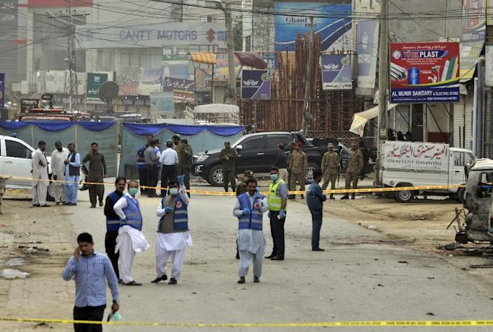 The umbrella Pakistani Taliban, or Tehreek-e-Taliban Pakistan (TTP), in a statement said it had carried out the Lahore attack Wednesday in revenge on security forces (AFP Photo/ARIF ALI)